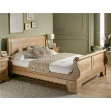 Oak Sleigh Bed Sleep Sanctuary Toulouse Oak Wooden Sleigh Bed 699 00