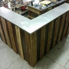 Desks Hair Salon Front Desk Reception Desk From Reclaimed Wood And Office Panels By