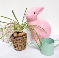 bunny rabbit lamp and night light for kids blue