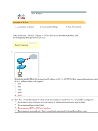 take assessment drsent chapter 4 ccna discovery introducing