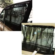 2pcs black uv protection car side window sun shade curtain suction