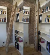 furniture intresting rolling library ladder ideas for white