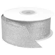 wired ribbon silver metallic wired ribbon the container store