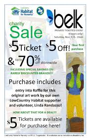 lowcountry habitat for humanity belk charity sale offer