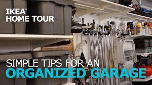 ikea garage garage organization tips ikea home tour youtube