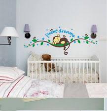 Nursery Decor Stickers Baby Nursery Decor Sleeping Tight Monkey Nursery Stickers