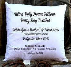 home design down pillow ultra polly down decorative pillow inserts down u0026 poly blend