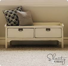 elegant storage bench with drawers solid wood sofa for craftsman