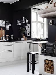 black walls white kitchen cabinets stunning furniture mesmerizing black white kitchen wall