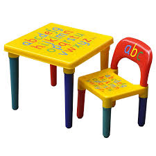 play table and chairs kids children furniture table and chair set alphabet design bedroom