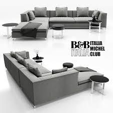sofa b and b italia michel 3d model cgtrader