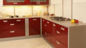 Red Gloss Kitchen Cabinets Kitchen Tiles Colour Round Pendant Lights Brown Contemporary Gloss