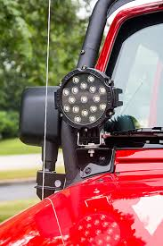 round led lights for jeep 6round 51w heavy duty high powered led work light off road light