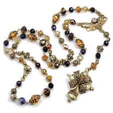 catholic rosary necklace baroque rosary necklace catholic jewelry sweet