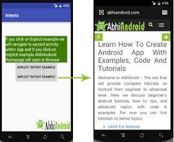 android intent exle intent tutorial in android with exle and types