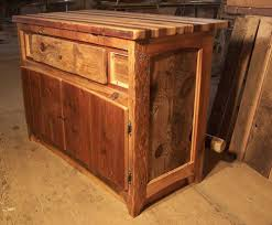 buy a custom butcher block kitchen island from reclaimed hardwood