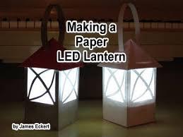 How To Make Paper Light Lanterns - a paper led lantern