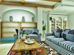 Striped Sofas Living Room Furniture Atrractive Small Living Room Design With Striped Sofa And