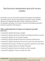 Financial Management Specialist Resume Top8businessdevelopmentspecialistresumesamples 150331213612 Conversion Gate01 Thumbnail 4 Jpg Cb U003d1427855819