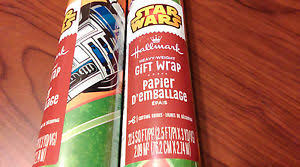 wars wrapping paper 2 rolls wars wrapping paper 22 5 sq ft each hallmark brand new