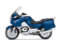2012 bmw r 1200 rt touring bike w panniers in blue