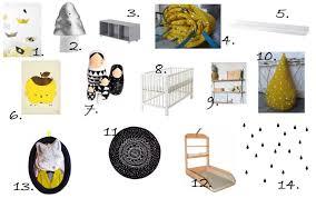 chambre bebe noir idée déco une chambre bébé en noir blanc et jaune les