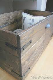 Build Your Own Wooden Toy Box by She Made This Without Power Tools I Love It U0027s Rustic Look Home