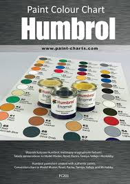paint colour chart humbrol 20mm pjb pc201