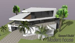 Google Home Design by Google Sketchup Speed Building Modern House Youtube