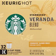 starbucks veranda blend blonde roast ground coffee k cups 32 ct