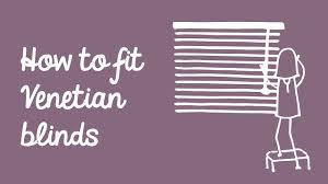 how to fit venetian blinds web blinds