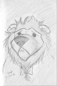 the cowardly lion sketch by roguederek on deviantart