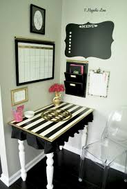 My Gold Desk Operation Organization Glam Black And White Command Center 11