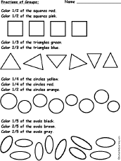 color fractions of groups of shapes 2 worksheet