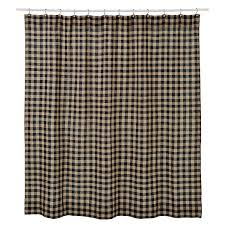 country bathroom shower curtains primitive burlap black check shower curtain country village shoppe