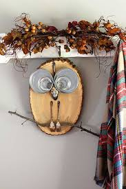 Owl Home Decor Diy Wood Slice Owl House Of Hawthornes