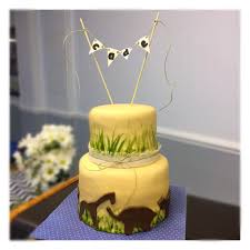 safari theme baby shower cake with hand painted grass and