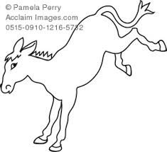 cartoon donkey coloring royalty free clip art picture