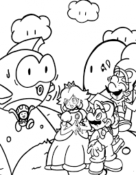 mario peach coloring pages kids coloring