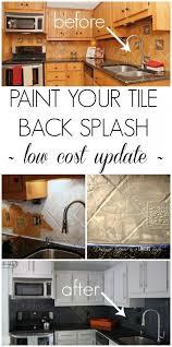 Tile Backsplash Designs For Kitchens Best 25 Painting Tile Backsplash Ideas On Pinterest Painting