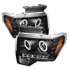 2012 ford f150 projector headlights amazon com spyder auto ford f150 black ccfl led projector