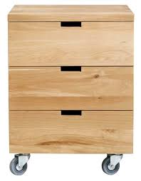 caisson bureau caisson billy oak bureau d ethnicraft 3 tiroirs