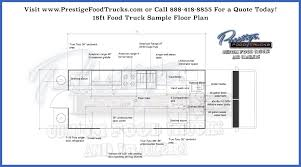 sample floor plans custom food truck floor plan samples prestige custom food truck