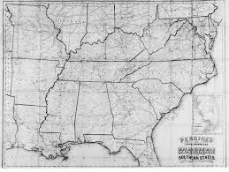Southeast States And Capitals Map by Digital History