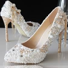 pearl wedding shoes gold and pearl wedding shoes shoespie
