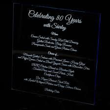 custom laser engraved acrylic menus by artifacture custommade com