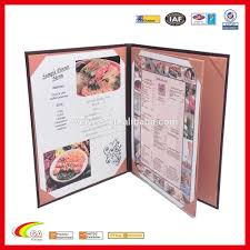 Restaurant Menu Covers Factory Oem High Quality A4 Size Restaurant Fake Leather Cardboard