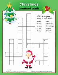 easy christmas crossword puzzle christmas crossword crossword