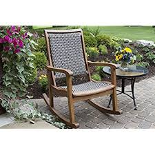 Outdoor Furniture Rocking Chair by Amazon Com Coral Coast Coral Coast Richmond Heavy Duty Outdoor