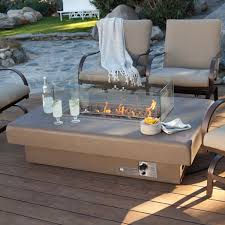 Firepit Patio Table by Decorative Patio Furniture With Gas Fire Pit On Honed Concrete